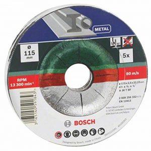 Bosch 2609256332 5 disques à tronçonner à moyeu dÃportà pour MÃtaux Diamètre 115 mm Diamètre d'alÃsage 22,23 Epaisseur 2,5 mm de la marque Bosch image 0 produit