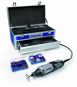 Dremel 4000-6/128 Edition Platinium Outil rotatif multi-usage (175W) 1 coffret alu 6 adaptations et 128 accessoires EZ SpeedClic inclus de la marque Dremel image 0 produit