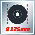 Einhell Meuleuse d'angle TC-AG 125 (850 W, Capot de protection, Blocage de l'arbre, Tête métallique, Livré avec poignée supplémentaire et clé à bride, sans disque) de la marque Einhell image 4 produit
