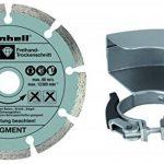 Einhell Meuleuse d'angle TE-AG 125/750 Kit (750 W, Longueur du câble : 3 m, Tête métallique, Livré en coffret avec poignée supplémentaire, clé à bride, disque à tronçonner au diamant) de la marque Einhell image 2 produit