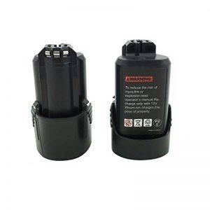Kinon Batterie de rechange pour outil électrique 2-Piles 10.8V 1.5Ah Li-Ion pour Bosch tournevis sans fil 2 607 336 013 2 607 336 014 BAT411 GDR 10.8-LI GMF 10.8V-LI GSR 10.8V -LI2 GUS 10.8V-LI de la marque Kinon image 0 produit