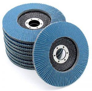 Lot de 10 compartiments Disque 115 mm Grain 80 compartiments Disque abrasif inox ponçage Mop Assiettes de la marque FD-Workstuff image 0 produit
