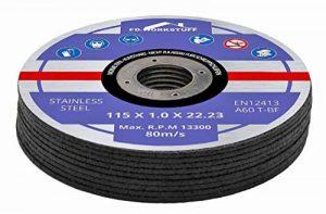 Lot de 10 disques en acier INOX pour scie circulaire 115 x 1.0 mm de la marque FD-Workstuff image 0 produit