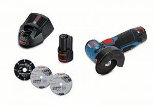 Meuleuse d'angle avec Batterie GWS 12V-76 (Batterie 2x 3,0Ah, 12V, Ø de Perçage:10mm, dans Coffret L-Boxx) de la marque Bosch-Professional image 0 produit