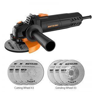 Meuleuse d'angle professionnelle Meterk® Ø115mm 750W avec 3pcs Disques à Tronçonner et 3pcs Meule d'affûtage inclus de la marque Meterk image 0 produit