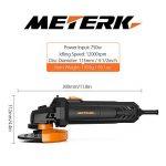 Meuleuse d'angle professionnelle Meterk® Ø115mm 750W avec 3pcs Disques à Tronçonner et 3pcs Meule d'affûtage inclus de la marque Meterk image 2 produit