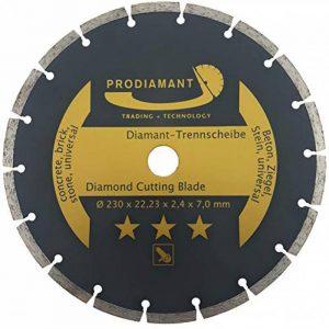 Prodiamant Disque à tronçonner diamant universel 230 x 22,2 mm Pour béton, pierre, tuiles, rondelles de séparation diamant 230 mm de la marque PRODIAMANT image 0 produit